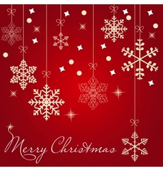 Christmas snowflakes cards vector image