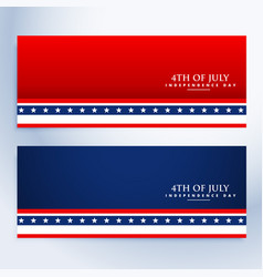 clean 4th july american banners vector image