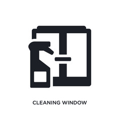 Cleaning window isolated icon simple element from vector