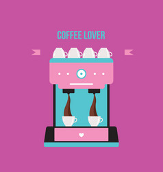 coffee machine colorful banner vector image