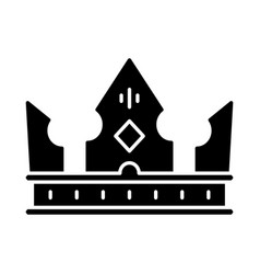 crown king glyph icon vector image