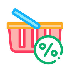 customer shopping cart icon outline vector image