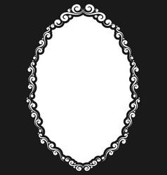 Decorative oval vintage frame vector