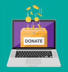 donate online concept vector image