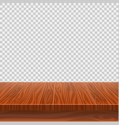 empty wooden perspective table for product vector image