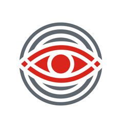 Eye round geometry logo vector