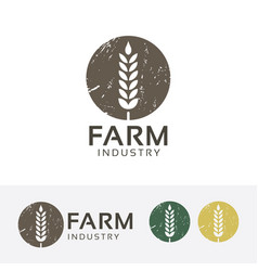 farm industry logo design vector image