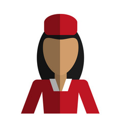 Female flight attendant avatar icon image vector