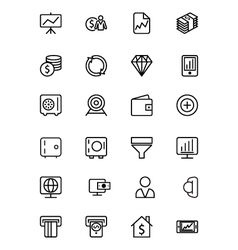 Finance Line Icons 3 vector image