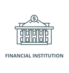 Financial institution line icon linear vector