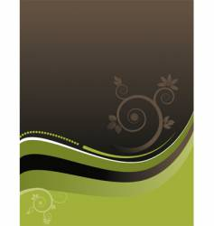 floral wavy background vector image vector image