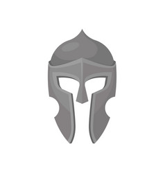 Gray armour helmet medieval protective headgear vector