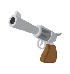 Gun cartoon icon vector
