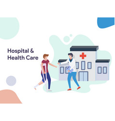 hospital and health care vector image