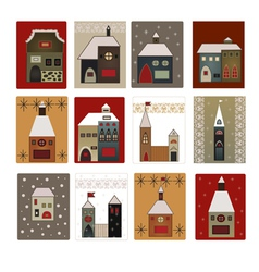 houses set for scrapbooking vector image