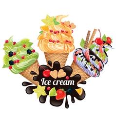 Ice creams vector