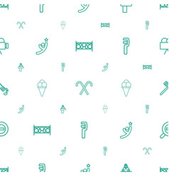 icons pattern seamless white background vector image