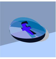 Kharkiv ukraine november 2019 a facebook logo vector