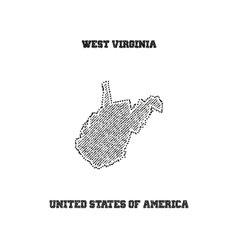 Label with map of west virginia vector image