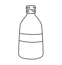 Line long mason jar preserve design vector
