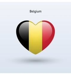 Love belgium symbol heart flag icon vector