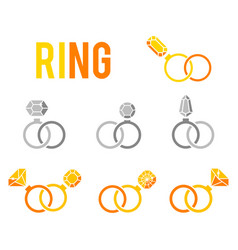 luxury accessories for jewelry vector image