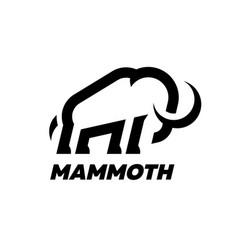 mammoth line logo design template vector image