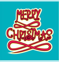 Merry christmas poster design vector