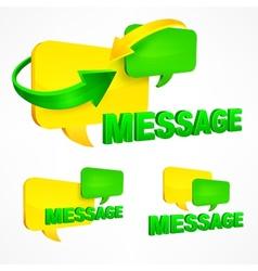 Message speech bubbles vector