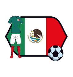 Mexico soccer uniform vector