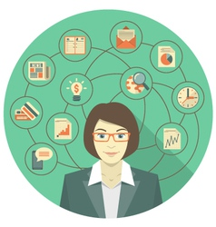 Modern Business Woman Concept vector image