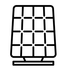 modern solar panel icon outline style vector image