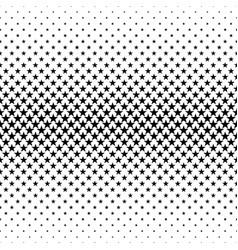 Monochromatic pentagram star pattern - abstract vector
