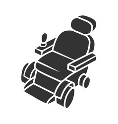 Motorized wheelchair glyph icon mobility aid vector