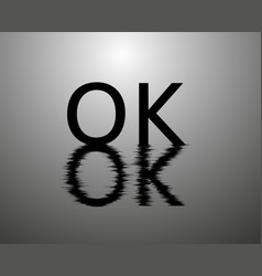 ok reflection on the water concept banner vector image