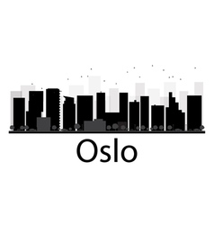 Oslo silhouette vector