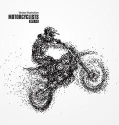 Particles biker full of enterprising across vector