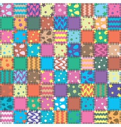 patchwork background vector image