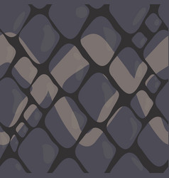Pattern of grey snake skin with ornaments vector