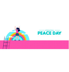 Peace day web banner for world children freedom vector