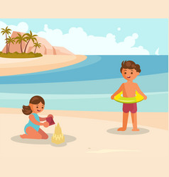 people on summer vacation vector image