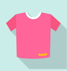 pink tshirt icon flat style vector image