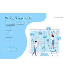 planning development of ideas vector image