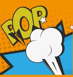 pop art bubble design vector image