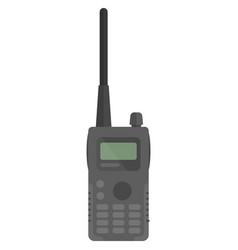 Portable handheld police radio device vector