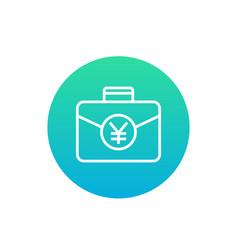 portfolio icon with yuan vector image
