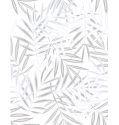 seamless palm leaf pattern vector image