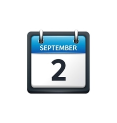 September 2 Calendar icon vector image