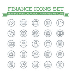 set of banking finance money icons payments and vector image