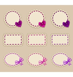 Set of elegant templates frame design vector image vector image